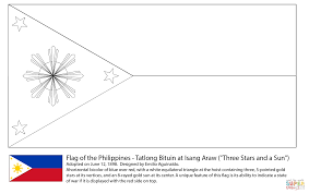 Flag Of The Philippines Coloring Page Free Printable Pages