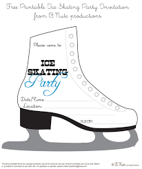 bnute productions printable ice skating party invitation printable ice skating party invitation