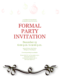 Formal Invitations Template Party Invitation Template 1