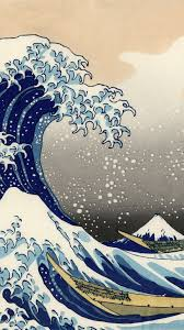 iphone 5 artistic the great wave off kanagawa wallpaper id 582819 on artistic hd wallpapers for mobile with the great wave wallpapers group 80