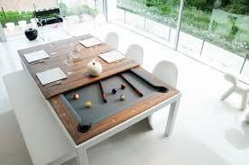 Combination Pool Table Dining Room Table Sleek Black Dining Room Pool Table Faced Off Wall Mounted