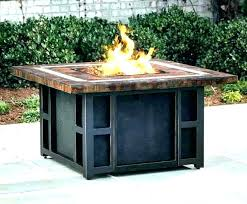 monte carlo crystal gas fire pit table black glass top propane endless summer pits outdoor heating