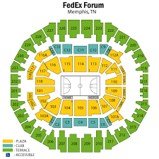 Fedexforum Seating Chart With Seat Numbers 65 Up To Date Fedex Forum Seat Chart