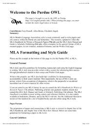 Sample Mla Research Paper Purdue