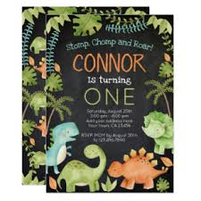 Dinosaur Birthday Invitation Dinosaur Birthday Invitation