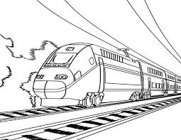 Trains are built to transport cargo or passengers. European High Speed Train Coloring Page Color Luna