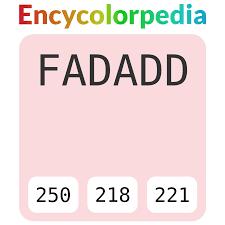 Бледно-<b>розовый</b> / #fadadd Схемы Шестнадцатеричных Кодов ...
