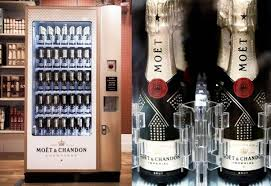 Marketing Vending Machines Mesmerizing Moët Chandon Creates The World's Only Champagne Vending Machine