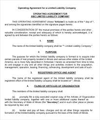 template for llc operating agreement llc operating agreement 8 download free documents in pdf word