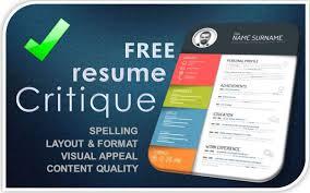 Free Resume Critique Ats Archives Algomais Beauteous Resume Critique
