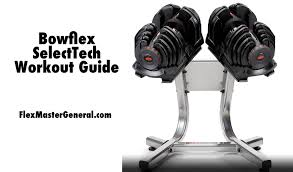 a pair of bowflex selecttech dumbbells sit on a stand ready for a workout