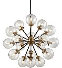elk lighting 14435 18 boudreaux matte black antique gold 18 light chandelier undefined