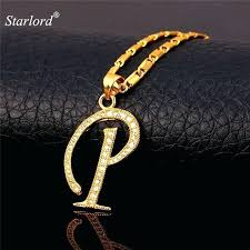 initial gift p letter pendants necklaces women men personalized alphabet jewelry gold color necklace gifts next