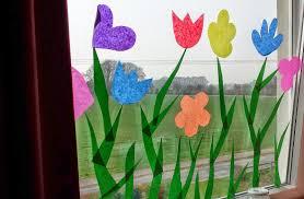 Fensterdeko Frühling Bastelideen Für Fröhliche Atmospäre Zu Hause