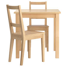 ... Furnituresome Ikea Two Seater Square Natural Oak Dining Table With  Chairs As Well Small Sets Design ...