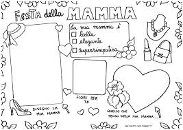 Festa Della Mamma Da Colorare