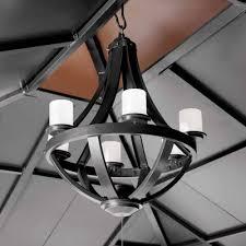 living home outdoors battery operated led gazebo chandelier home solar chandelier for gazebo