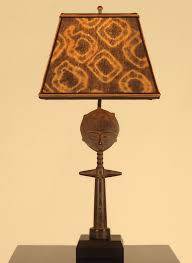 african decor table lamp fertility doll mud cloth lamp shade