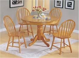 marvelous acme country style oak finish wood round dining table 4 windsor appealing suggestions white round