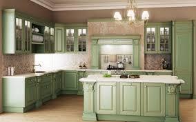 Sage Green Kitchen Cabinets Vintage Island Kitchen Interior Decor