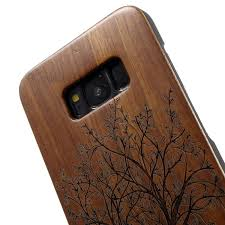 carving handmade hard wood phone case for samsung galaxy s8 g950 tree 6