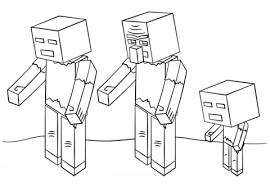 Minecraft Zombies Coloring Page Free Printable Coloring Pages