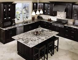 Espresso Kitchen Cabinets with Black Appliances Design Espresso