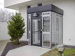 prefabricated entry vestibule attached to a building