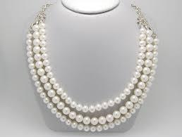 detalles acerca de tiffany co paloma picasso tres fila collar de perlas de hoja de olivo plata esterlina mostrar título original