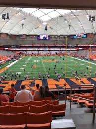 Syracuse Football Dome Seating Chart Photos At Carrier Dome