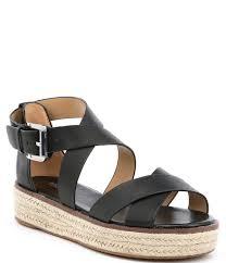 michael michael kors darby vachetta leather flatform espadrille sandals dillard s