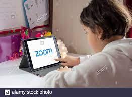 Antalya, TURKEY - April 24, 2020. Tablet showing Zoom Cloud Meetings app  logo Stock Photo - Alamy