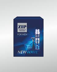 <b>Подарочный набор</b> ZIP <b>New</b> Wave (Пена для бритья + Станок ...