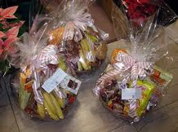 fruit gourmet cookies and candy basket