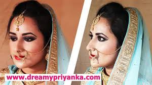 best indian bridal makeup step by step tutorial image