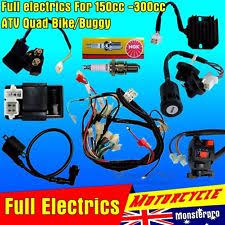 full motorcycle electrics wiring harness loom solenoid coil cc full motorcycle electrics wiring harness loom solenoid coil 200cc atv quad bike