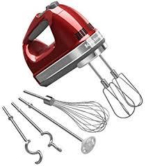 amazon kitchenaid 9 speed hand mixer. kitchenaid khm920a 9-speed hand mixer candy apple red - with (free dough hooks amazon kitchenaid 9 speed amazon.com