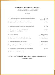 Template Shareholders Meeting Agenda Annual Invitation