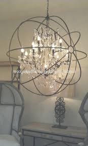 foucaultu0027s iron orb crystal chandelier foucaultu0027s orb for rustic iron and crystal chandelier gallery