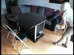 Space Saving Convertible, Height Adjustable Coffee/Dining Table With  Storage For Chairs.mp4   YouTube