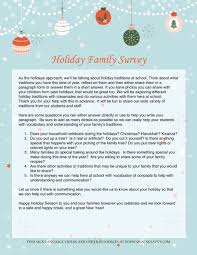 holiday template word exploring holiday family traditions at school and adding language