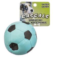 Latex ball rope dog toy
