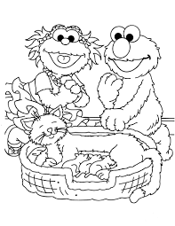 Small Picture Sesame Street Coloring Pages GetColoringPagescom