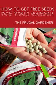 the frugal gardener how to get free seeds for your garden