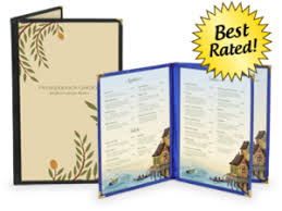 Deluxe Cafe Style Menu Covers