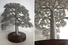 wire art tree sculptures clive maddison 7 on wire tree sculpture wall art with artist makes intricate tree sculptures by twisting single strands of