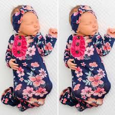 Details About Us Newborn Baby Girls Swaddle Blanket Sleeping Bag Swaddle Muslin Wrap Headband