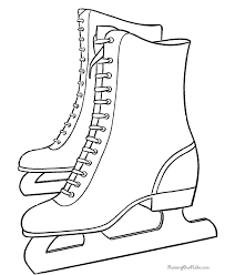 Small Picture coloring page of skates