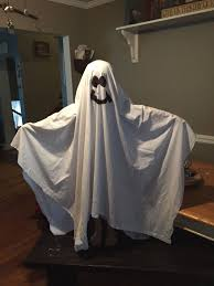ghost costumes sheet last minute halloween ghost costume out of bed sheet diy success