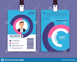 company id card templates corporate id card professional employee identity badge with man